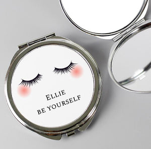 Personalised eyelash compact mirror