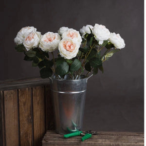 blush garden rose artificial flower