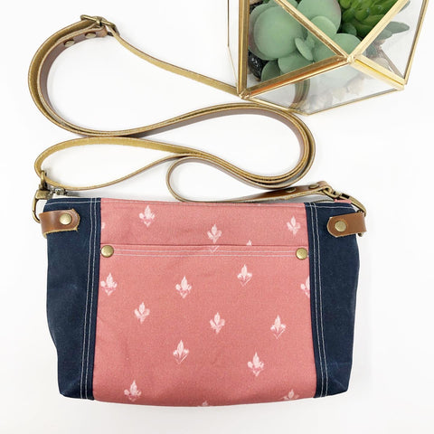 Holy Family Hearts Crossbody (Dusty Rose)
