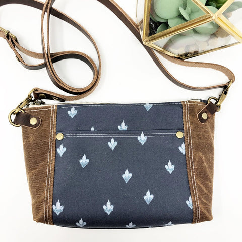 Holy Family Hearts Crossbody (Navy)