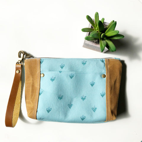 Holy Family Hearts Wristlet (Turquoise)