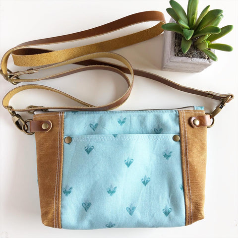 Holy Family Hearts Crossbody (Turquoise)