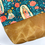 Our Lady of Guadalupe Multicolor Floral Tote Bag (Large)