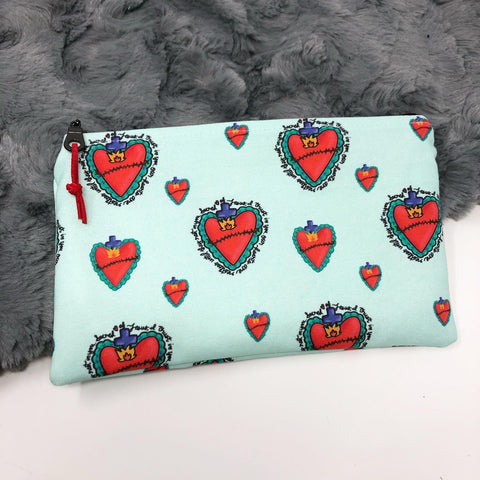 Sacred Heart Zipper Pouch