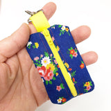 Blue Floral Mini Pouch