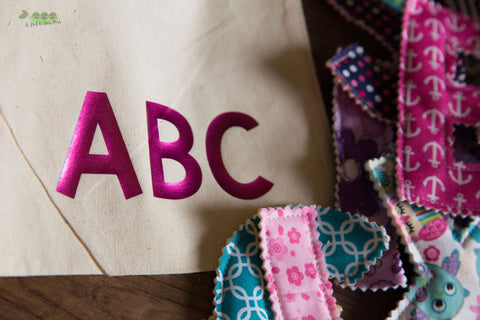 Fabric Alphabet Letters (Girl)