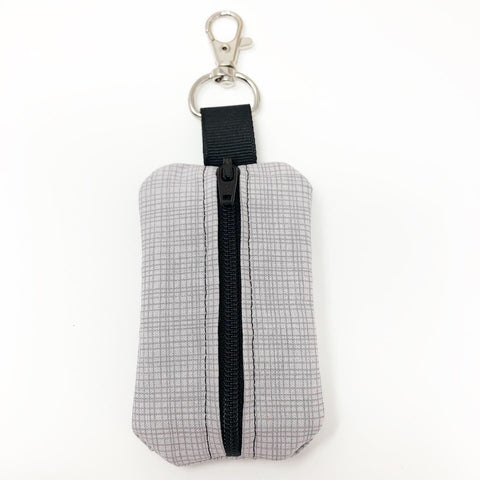 Gray Stripe Mini Pouch