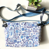 Our Lady of Lourdes Floral Crossbody