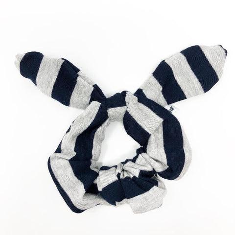 Navy Stripe Scrunchie