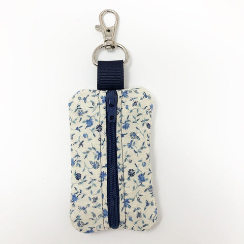 Light Blue Floral Rosary Pouch