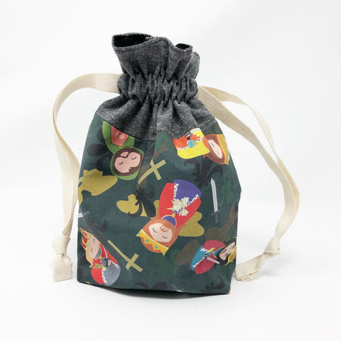 Royal Male Saints Drawstring Pouch
