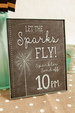Personalised Sparkler Signs