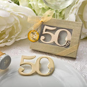 Anniversary Favours - 50th Anniversary Golden Bottle Opener