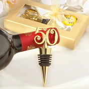 Anniversary Favours - Golden 50 Anniversary Wine Bottle Stoppers