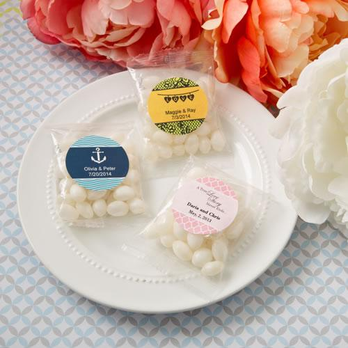 Personalised Expressions Collection White Jelly Beans In Cherry