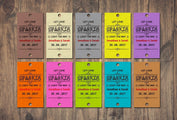 Sparkler Tags - 50 / 100 / 150 Personalised Sparkler Cover Tags Sleeves 15 Colours (Style H)