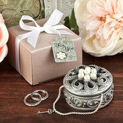 Trinket Box Favours - Pearl Flower Curio Trinket Boxes