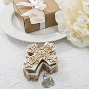 Trinket Box Favours - Vintage Design Cross Trinket And Jewellery Box