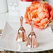Wedding Bell Favours - Rose Gold Metal Kissing Bell Or Wedding Bell From Solefavors