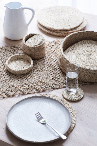 Jute Macrame Table Runner - Natural