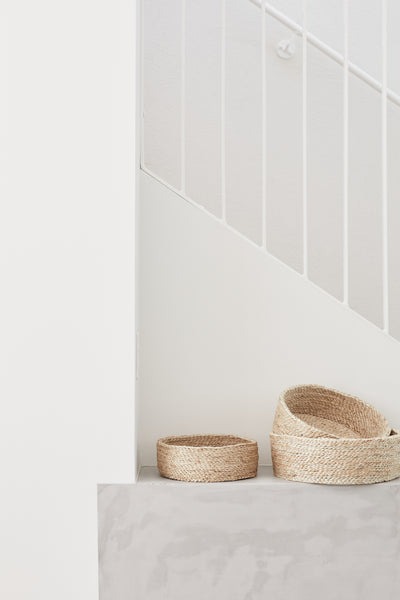 Trio of Round Baskets - Natural