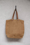 Tote w/ leather handles - Camel