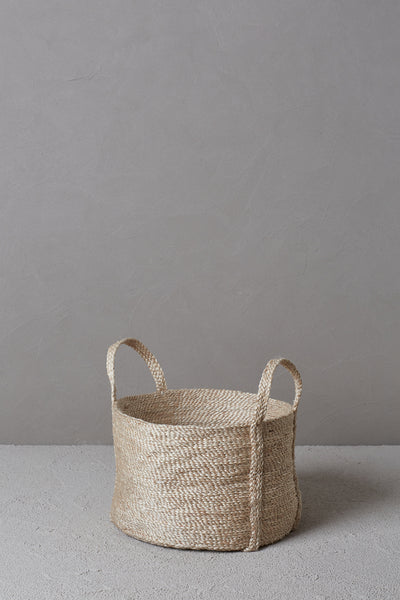 Round Jute Basket - Natural