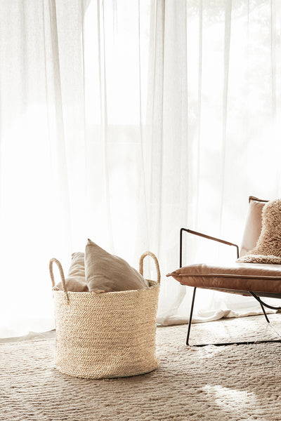Large Round Jute Basket - Natural