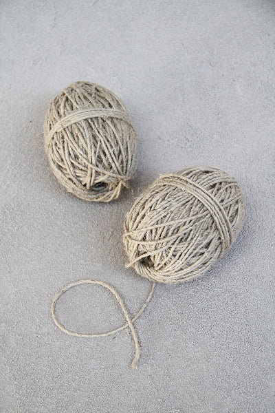 Natural Thick Hemp Twine - 2 x 50m balls