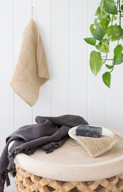 Hemp Wash Cloth Set - Natural