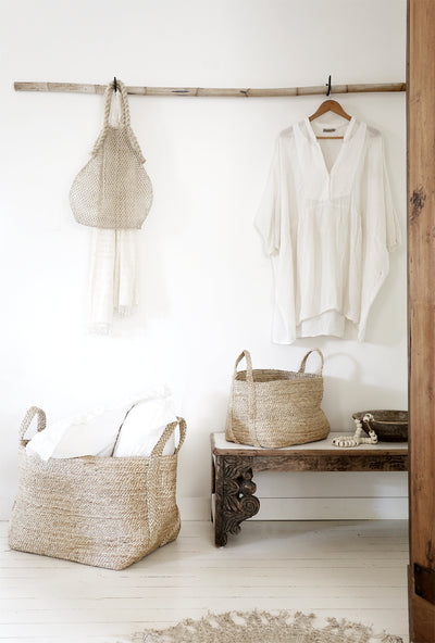 Large Jute Basket - Natural