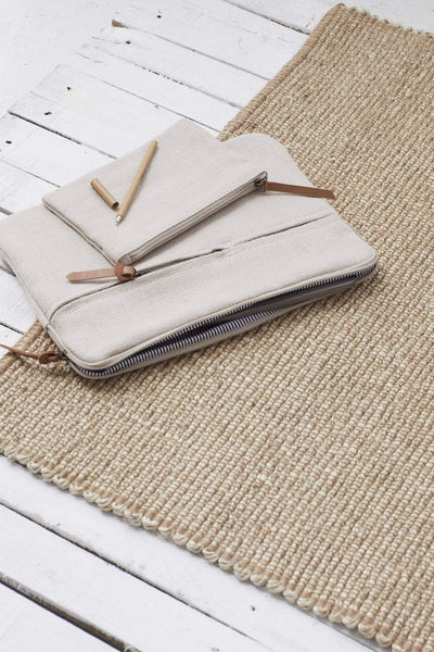 The Dharma Door Rugs and Runners Lahari Jute Runner Lahari Jute Floor Runner -  Natural
