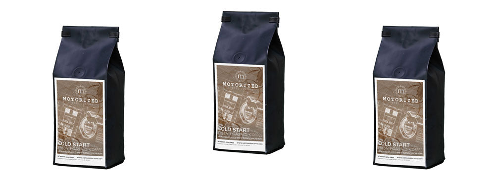 Cold Start; Specialty organic roast-to-order coffee for cold brew from Motorized Coffee Company