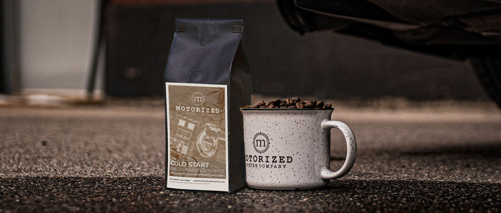 Specialty roast-to-order coffee geared around car enthusiasts and drivers | Motorized Coffee Company