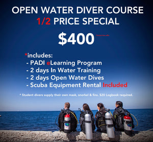 OPEN WATER DIVER ** 1/2 Price SPECIAL **