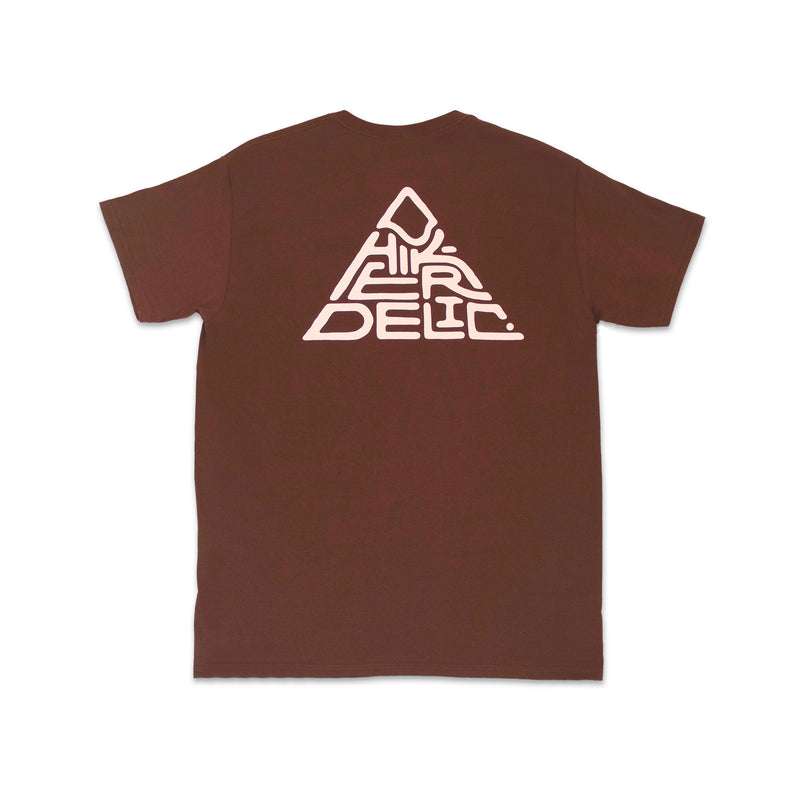 Hikerdelic 60 degrees Mountain T-Shirt - Brown / White - Hikerdelic Shop