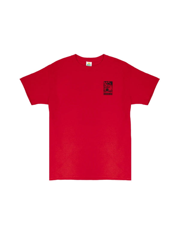 Hikerdelic Camp Scene T-Shirt Red