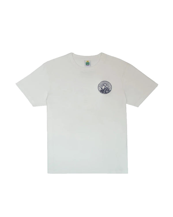 Hikerdelic Core Logo T-Shirt - White / Navy