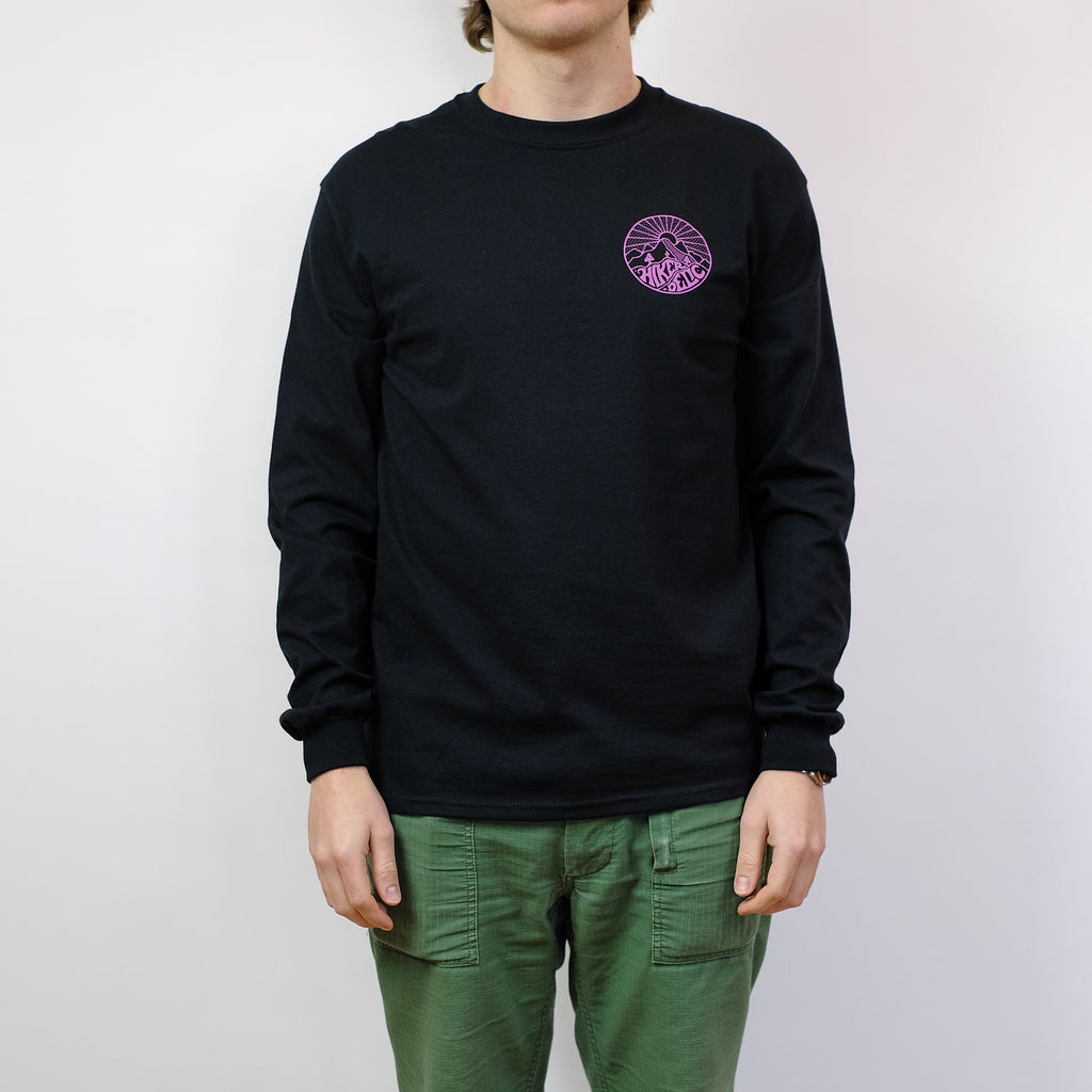 Hikerdelic Core Logo Longsleeve T-Shirt - Black / Pink - Hikerdelic Shop
