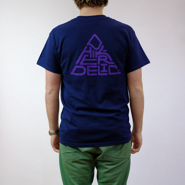 Hikerdelic 60 degrees Mountain T-Shirt - Navy / Purple - Hikerdelic Shop