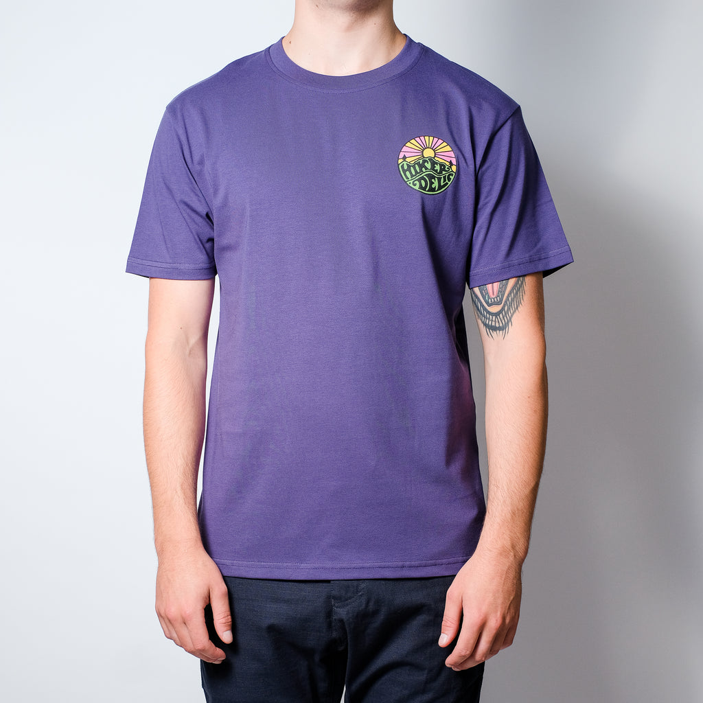 Hikerdelic Original Logo Short Sleeve T-Shirt - Purple