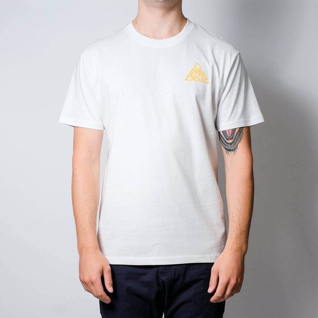 Hikerdelic Mountain Logo Short Sleeve T-Shirt - Off White