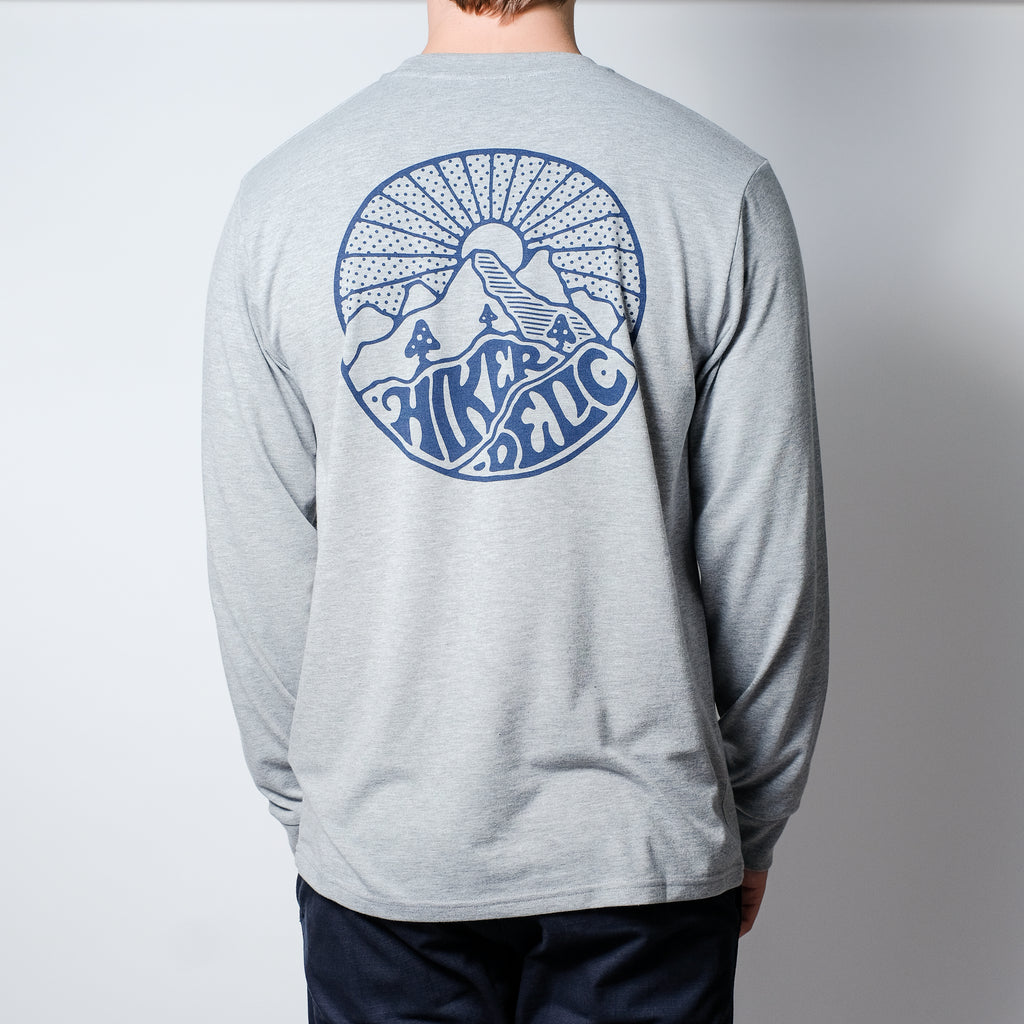 Hikerdelic Core Logo Long Sleeve T-Shirt  - Grey Marl