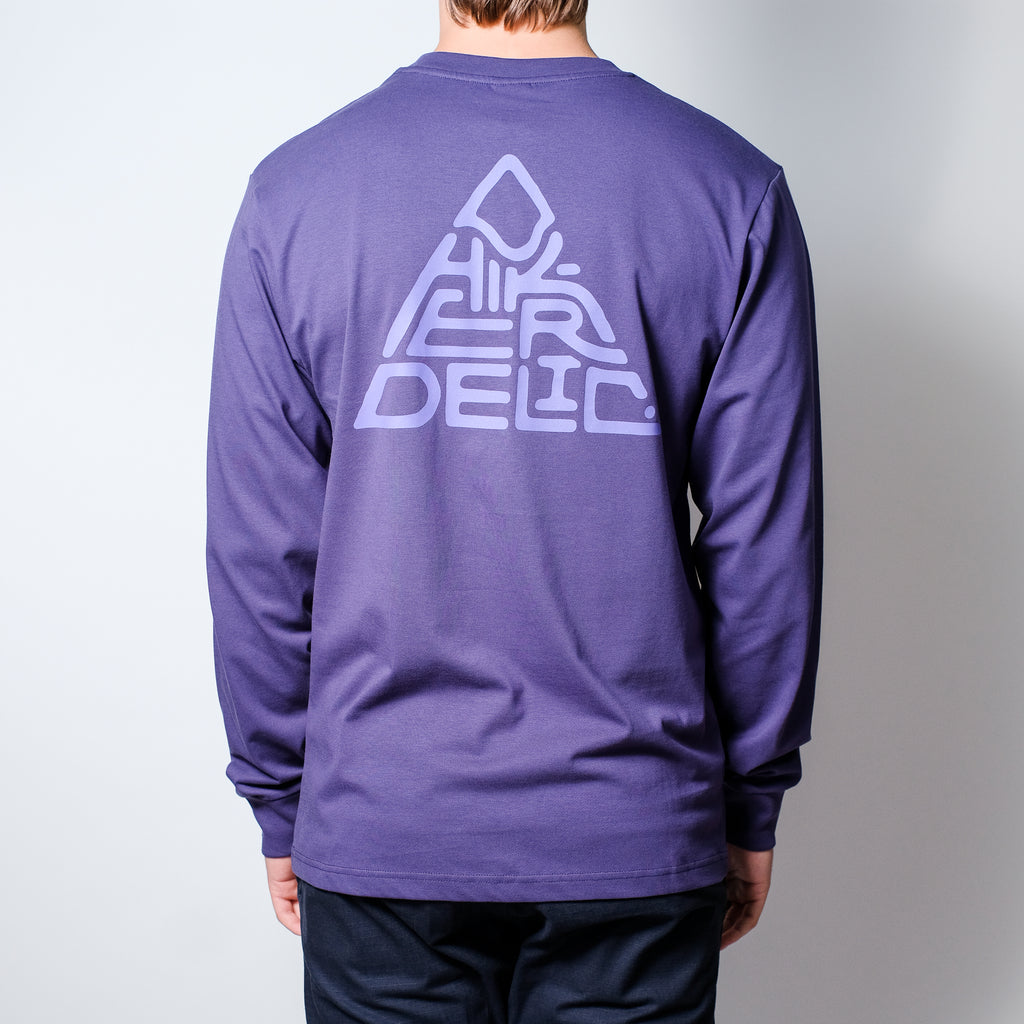 Hikerdelic Mountain Logo Long Sleeve T-Shirt - Purple