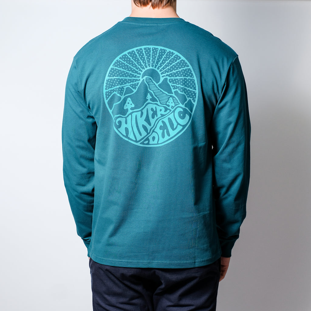 Hikerdelic Core Logo Long Sleeve T-Shirt - Bottle Green
