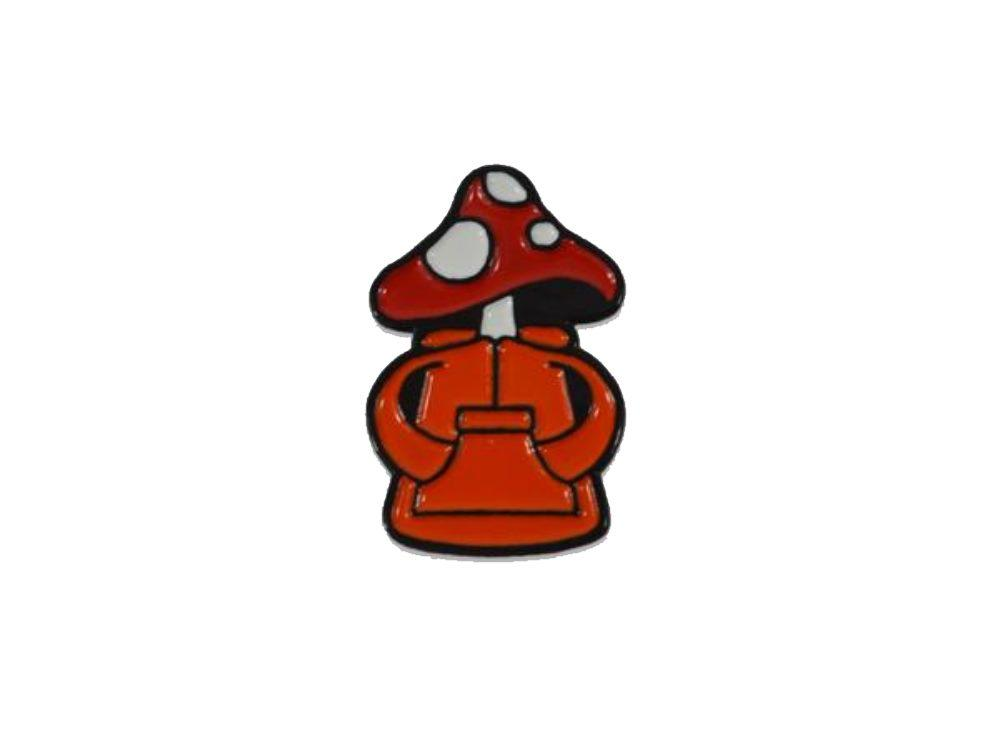 Hikerdelic Hiker Derek Pin Badge Red Red - Hikerdelic Shop