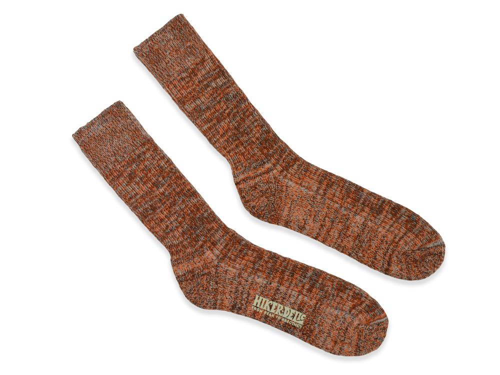 Hikerdelic Citrus Socks Brown / Orange Brown / Orange - Hikerdelic Shop