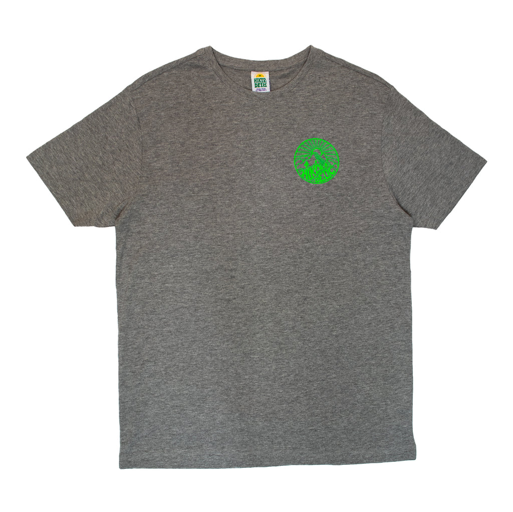 Hikerdelic Core Logo T-Shirt Grey / Neon Green - Hikerdelic Shop