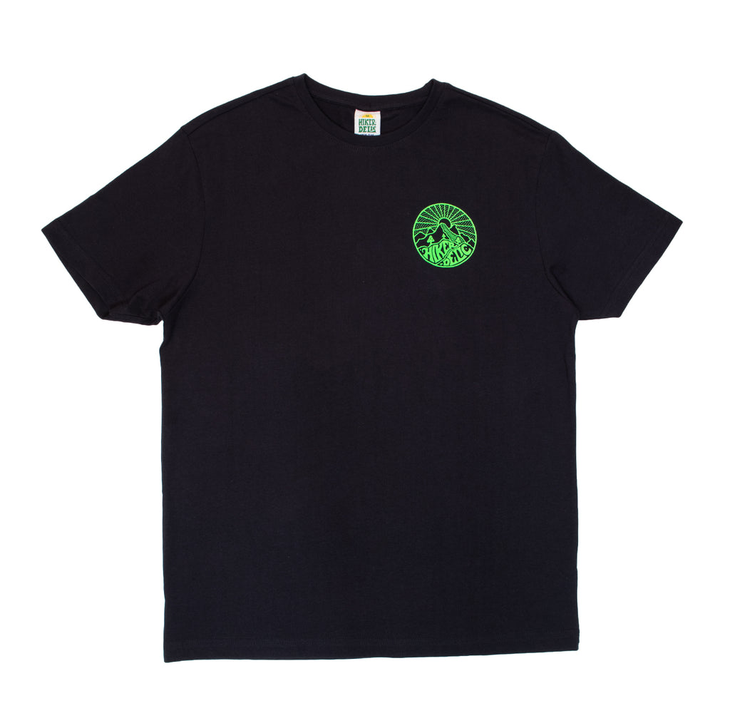 Hikerdelic Core Logo T-Shirt Dark Navy / Neon Green - Hikerdelic Shop