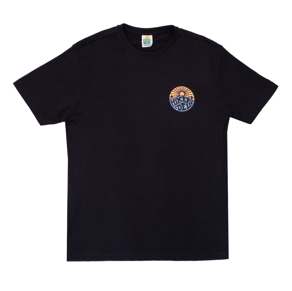 Hikerdelic Original Logo T-Shirt Dark Navy / Tangerine - Hikerdelic Shop
